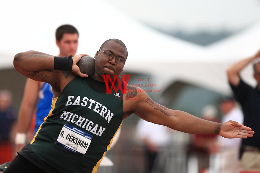 2009 NCAA National Track & Field Championships.Shot Eastern Michigan Gerald Gersham