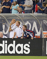 Steve Nicol looks on in the closing minutes. The New England Revolution defeated LA Galaxy, 2-0, at Gillette Stadium on July 10, 2010.