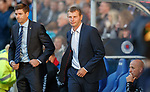 23.08.2018 Rangers v Ufa: Steven Gerrard and Sergey Tomarov Manager of UFA