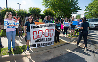 NWA Democrat-Gazette/BEN GOFF @NWABENGOFF<br /> Supporters of Bernie Sanders gather Wednesday, June 5, 2019, outside the Walmart shareholders formal business meeting at the John Q. Hammons Center in Rogers.