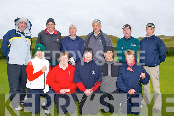 STRONG TEAM: Ceann Sibeal, Dingel golf team who have a very strom team for the Irish Mixed foursome West Munster section in Castklewgregory Golf & Fishing Club, Castlegregory on Saturday. Front l-r: Gillian Stack, Brid ui? Lushaing, Niamh Fitzgerald, Aine Barry and Eleanor Curran. Back l-r: Tom Curran, Joe Curran, Tommy Sayers, Kieran Clancy, Damian Duffy and Tomas ui Lubhaing.