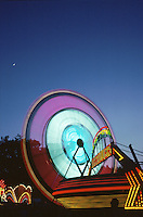 Carnival at Twilight. Morristown New Jersey United States Park.