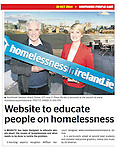 Fr Peter McVerry and  Senator Averil Power pictured at the launch of a new education website for second level students and teachers on homelessness in Ireland. The site has been developed in conjunction with HMH an American Multinational.