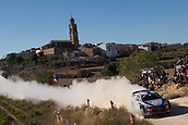 6th October 2017, Costa Daurada, Salou, Spain; FIA World Rally Championship, RallyRACC Catalunya, Spanish Rally; Thierry Neuville - Nicolas Gilsoul of Hyundai Motorsport during the SS3 in Villalba dels Arcs