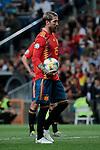 Spain national team player Sergio Ramos during UEFA EURO 2020 Qualifier match between Spain and Sweden at Santiago Bernabeu Stadium in Madrid, Spain. June 10, 2019. (ALTERPHOTOS/A. Perez Meca)