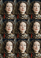 Marisa Berennson, scelta da Stanley Kubrick per il ruolo di Lady Lyndon in Barry Lyndon (1975).  Ha lavorato come top model degli Anni Sessanta (a dimostrazione di questo era una delle cover girls più famose della rivista VOGUE). Milano, Terrazza Martini 10 aprile 1986. Photo by Leonardo Cendamo