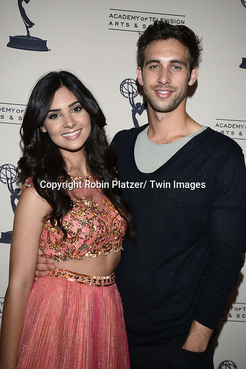 Camilla Banus and Blake Berris attend the Academy Of Television Arts & Science Daytime Programming  Peer Group Celebration for the 40th Annual Daytime Emmy Awards Nominees party on June 13, 2013 at the Montage Beverly Hills in Beverly Hills, California.