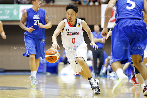 Yuta Tabuse (JPN), AUGUST 15, 2015 - Basketball : International friendly match between Japan 65-54 Czech Republic at 2nd Yoyogi Gymnasium in Tokyo, Japan. (Photo by Yusuke Nakanishi/AFLO SPORT)