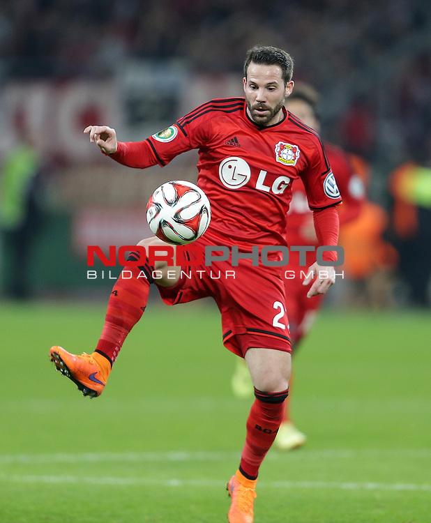 08.04.2015, BayArena, Leverkusen, DFB Pokal, Bayer 04 Leverkusen vs. Bayern M&uuml;nchen<br /> Gonzalo Castro (Leverkusen)<br /> Foto &copy; nordphoto /  Bratic