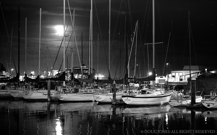 A quieter time in Santa Cruz Harbor.