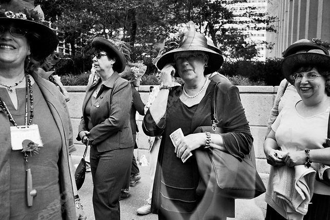 Ladies dressed in their finest on the street, Chicago, Illinois, USA, September 2007