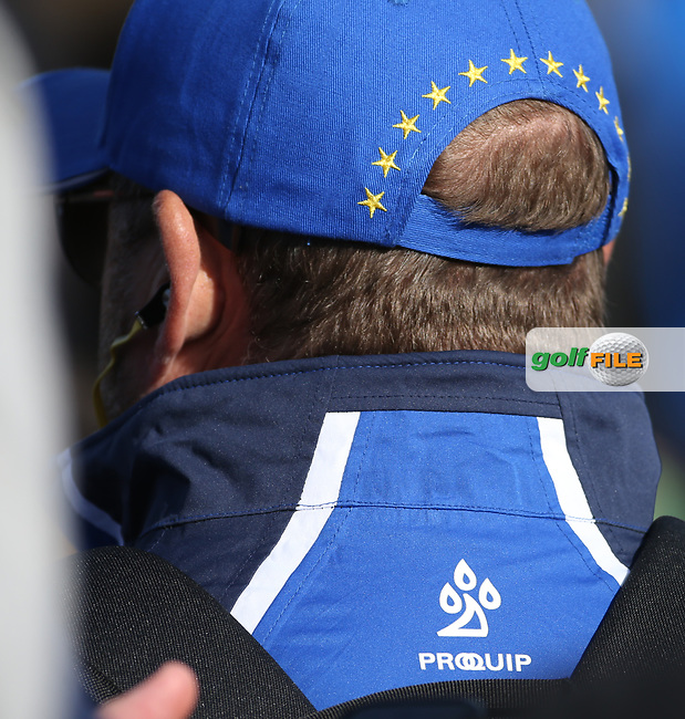 Headwear during Saturday's Fourballs, at the Ryder Cup, Le Golf National, Île-de-France, France. 29/09/2018.<br /> Picture David Lloyd / Golffile.ie<br /> <br /> All photo usage must carry mandatory copyright credit (© Golffile | David Lloyd)