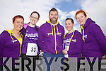 Mag Riordan, Maureen Culhane, Shane O'Connor, Sharon Murphy and Joan Hickey pictured at the Feale Fit Annual Easter 5k run last Sunday in Abbeyfeale.