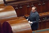 Roma: Silvio Berlusconi durante le votazioni del presidente della Repubblica 2013. Foto credit Adamo Di Loreto/BuenaVista*pohto