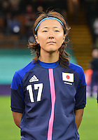August 03, 2012 - Japan's Yuki Ogimi during the singing of National Antherm before Group F match between JPN and BRA at the Millennium Stadium. .