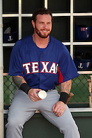 Josh Hamilton plays in his first extended spring training game with the Texas Rangers against the Kansas City Royals at the Rangers training complex on May 4, 2015 in Surprise, Arizona. Hamilton re-joined the Texas Rangers after being acquired from the Los Angeles Angels (Bill Mitchell)