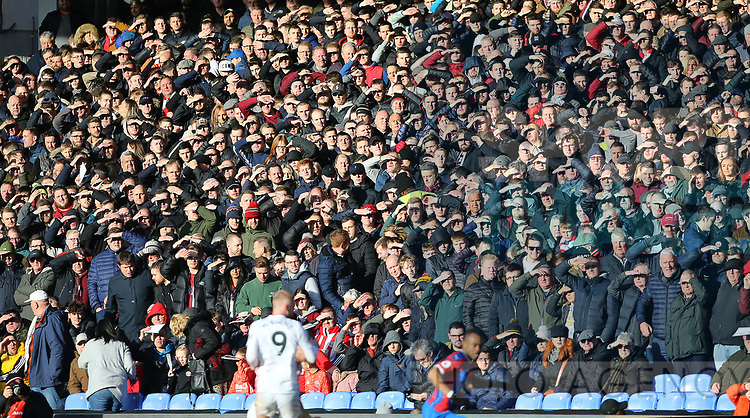 Sheffield United Fans during the Premier League match at Selhurst Park, London. Picture date: 1st February 2020. Picture credit should read: Paul Terry/Sportimage