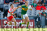 David Clifford Kerry in action against Sean McKeever Derry in the All-Ireland Minor Footballl Final in Croke Park on Sunday.