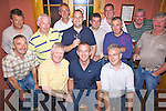 Golfers - Members of The Kilmoyley Golf Society pictured at their prizegiving night in Mc'Elligot's Bar, Ardfert following their President's Prize Tournament at The Ring of Kerry Golf Club on Saturday. Seated l/r James Kennedy (President), 1st prize winner Eddie O'Flaherty, Chris Horan (Capt.), standing l/r Hubert Fitzell, Seanie Horan, Fintan Ryan, Michael Meehan, P.J. Meehan, Diarmuid Leen, Tony Flaherty, Nicky Cooke, J.J. McElligot and Neil Doherty.
