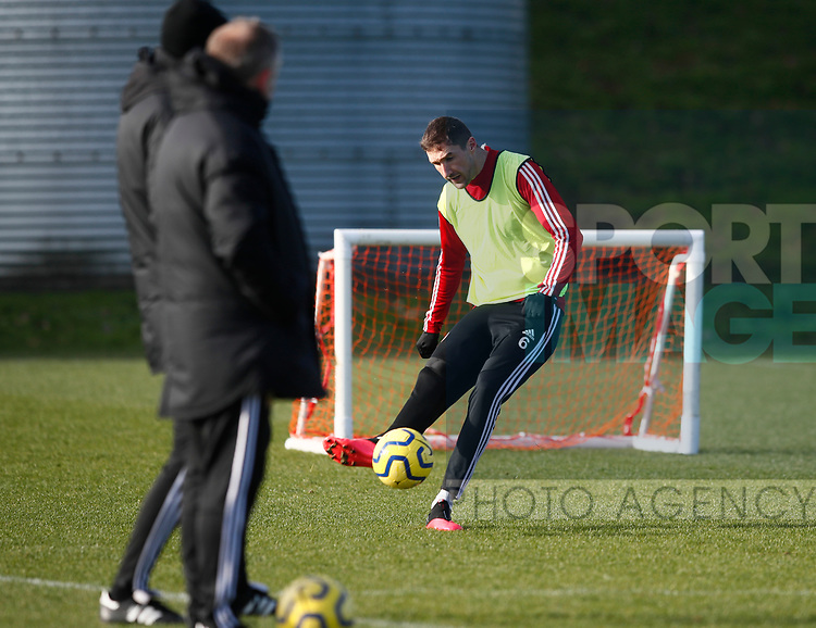 Chris Basham of Sheffield Utd during the Press Conference & Training at the Steelphalt Academy, Sheffield. Picture date: 7th February 2020. Picture credit should read: Simon Bellis/Sportimage