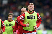 Joe Joyce of Bristol Bears looks on from the sidelines. Gallagher Premiership match, between Leicester Tigers and Bristol Bears on April 27, 2019 at Welford Road in Leicester, England. Photo by: Patrick Khachfe / JMP