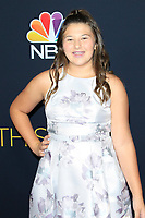 LOS ANGELES - SEP 25: Mackenzie Hancsicsak at the Premiere of NBC's 'This Is Us' Season 3 at Paramount Studios on September 25, 2018 in Los Angeles, California