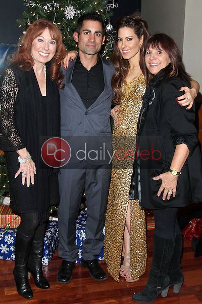 Linda Kasem, Mike Kasem, Kerri Kasem, Raven Kane Campbell<br />