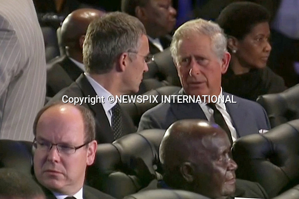Qunu, South Africa: 15.12.2013: STATE FUNERAL FOR NELSON MANDELA<br /> PRINCE CHARLES AND PRINCE ALBERT OF MONACO<br /> at the Funeral Service for former President Nelson Mandela in Qunu, Eastern Cape, South Africa<br /> Mandatory Credit Photo: &copy;NEWSPIX INTERNATIONAL<br /> <br /> **ALL FEES PAYABLE TO: &quot;NEWSPIX INTERNATIONAL&quot;**<br /> <br /> IMMEDIATE CONFIRMATION OF USAGE REQUIRED:<br /> Newspix International, 31 Chinnery Hill, Bishop's Stortford, ENGLAND CM23 3PS<br /> Tel:+441279 324672  ; Fax: +441279656877<br /> Mobile:  07775681153<br /> e-mail: info@newspixinternational.co.uk