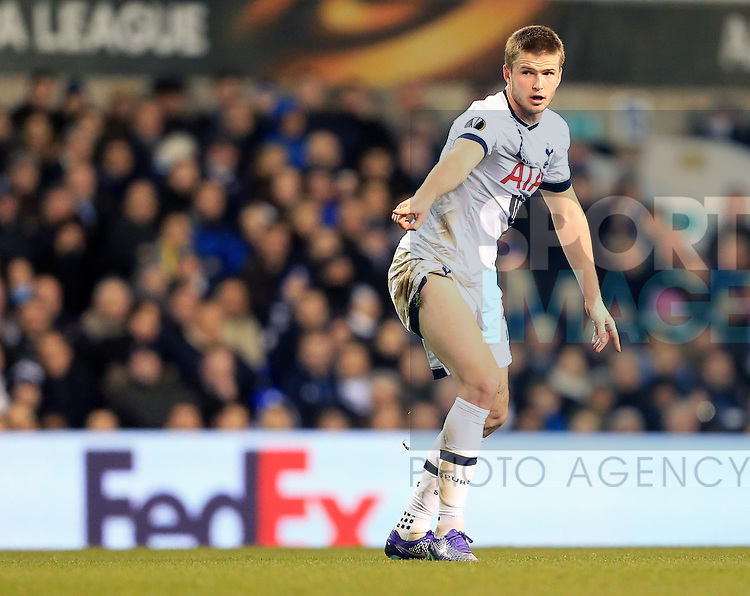 Tottenham's Eric Dier in action during the Europa League match at White Hart Lane Stadium.  Photo credit should read: David Klein/Sportimage