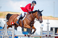 BEL-Pieter Devos rides Espoir during the First Competition - FEI World Team and Individual Jumping Championship. 2018 FEI World Equestrian Games Tryon. Tuesday 18 September. Copyright Photo: Libby Law Photography