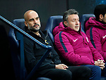 Manchester City's Pep Guardiola looks on during the Champions League Quarter Final 2nd Leg match at the Etihad Stadium, Manchester. Picture date: 10th April 2018. Picture credit should read: David Klein/Sportimage