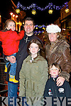 Luke, Brian, Jodie Allen, Pauline and Bryan O'Shea at the Christmas in Killarney parade on Friday night..