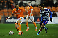 Blackpool's Liam Feeney under pressure from Reading's Danny Loader<br /> <br /> Photographer Kevin Barnes/CameraSport<br /> <br /> Emirates FA Cup Third Round Replay - Blackpool v Reading - Tuesday 14th January 2020 - Bloomfield Road - Blackpool<br />  <br /> World Copyright © 2020 CameraSport. All rights reserved. 43 Linden Ave. Countesthorpe. Leicester. England. LE8 5PG - Tel: +44 (0) 116 277 4147 - admin@camerasport.com - www.camerasport.com