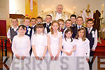 Pupils from both Castlegregory and Aughashla national schools who made their communion together in St. Mary's Church, Castlegregory