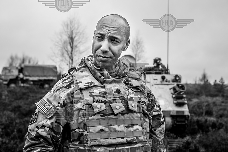 Lieutenant colonel John Evans from the US Army during NATO Iron Sword joint exercises.