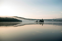 Sunrise at Lake Ninevah in Mount Holly, Vermont.