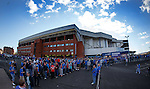 Fans queuing outside Ibrox for pay at the gate for the first time in many years to ease ticket demand