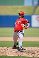 Washington Nationals pitcher Todd Peterson (57) during an Instructional League game against the Miami Marlins on September 26, 2019 at FITTEAM Ballpark of The Palm Beaches in Palm Beach, Florida.  (Mike Janes/Four Seam Images)