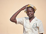 A girl in the Loreto Girls Secondary School outside Rumbek, South Sudan. The school is run by the Institute for the Blessed Virgin Mary--the Loreto Sisters--of Ireland.