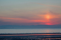 Arran at sunset from Troon, Ayrshire<br /> <br /> Copyright www.scottishhorizons.co.uk/Keith Fergus 2011 All Rights Reserved