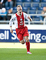 30/10/2010   Copyright  Pic : James Stewart.sct_jsp002_falkirk_v_dundee  .:: LEIGH GRIFFITHS CELEBRATES THE FIRST AFTER HE SCORES DUNDEE'S FIRST:: .James Stewart Photography 19 Carronlea Drive, Falkirk. FK2 8DN      Vat Reg No. 607 6932 25.Telephone      : +44 (0)1324 570291 .Mobile              : +44 (0)7721 416997.E-mail  :  jim@jspa.co.uk.If you require further information then contact Jim Stewart on any of the numbers above.........