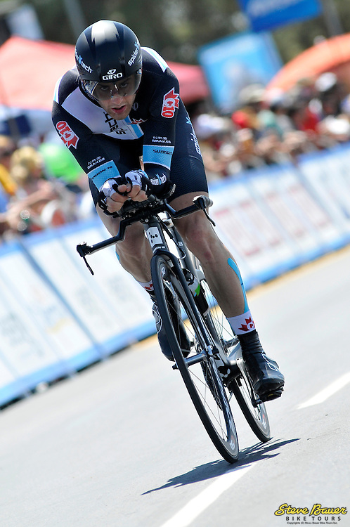 Hugo Houle during the Stage 5 individual time trial at the Amgen Tour of California on May 17, 2012. Photo by Brian Hodes/Veloimages