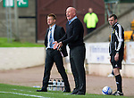 St Johnstone v Dundee United....01.09.12      SPL  .Peter Houston instructs his players.Picture by Graeme Hart..Copyright Perthshire Picture Agency.Tel: 01738 623350  Mobile: 07990 594431