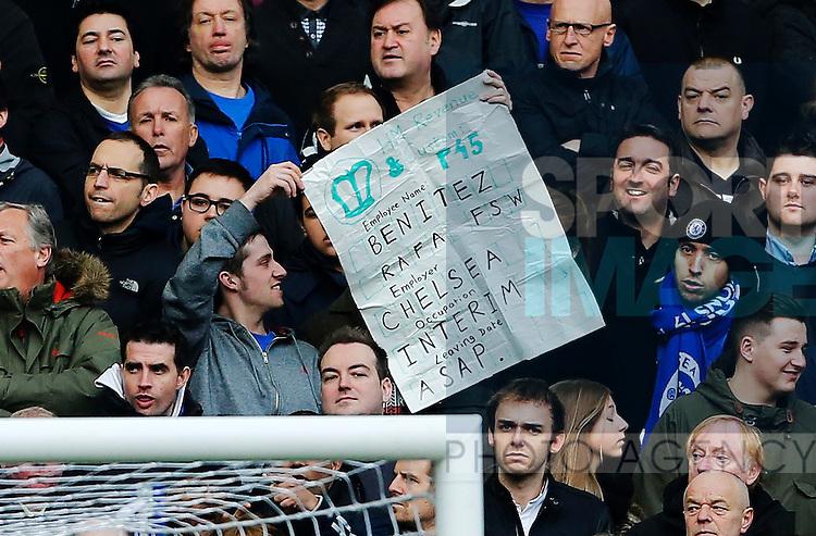Chelsea's fans have another anti Rafa Benitez banner..Chelsea v West Bromwich Albion- Barclays Premier League - Stamford Bridge, London- 2/03/13 - Picture David Klein/Sportimage