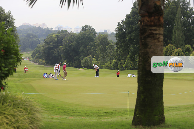 Play on the 3rd green during Round 3 of the CIMB Classic in the Kuala Lumpur Golf &amp; Country Club on Saturday 1st November 2014.<br /> Picture:  Thos Caffrey / www.golffile.ie