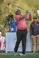Pat Perez (USA) watches his tee shot on 18 during round 3 of the World Golf Championships, Mexico, Club De Golf Chapultepec, Mexico City, Mexico. 3/3/2018.<br /> Picture: Golffile | Ken Murray<br /> <br /> <br /> All photo usage must carry mandatory copyright credit (&copy; Golffile | Ken Murray)