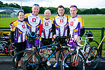 At the  Emmett's Scenic Challenge Sportive Cycle in Listowel were Cora Carrigg,Joe Sheehy, Aidan Hobbert, Brendan O'Connor and Darren O'Sullivan
