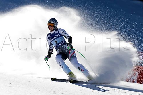 30.11.2013. Beaver Creek, Colorado, USA. Womens Super G downhill skiing world cup. Nicole Hosp (AUT).