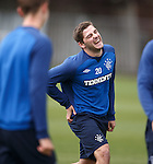 Kyle Hutton sees the funny side of things after taking a wee stumble at training