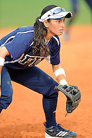 11 February 2012:  FIU's Jessy Alfonso (8) waits for the pitch as the University of Massachusetts Minutewomen defeated the FIU Golden Panthers, 3-1, as part of the COMBAT Classic Tournament at the FIU Softball Complex in Miami, Florida.